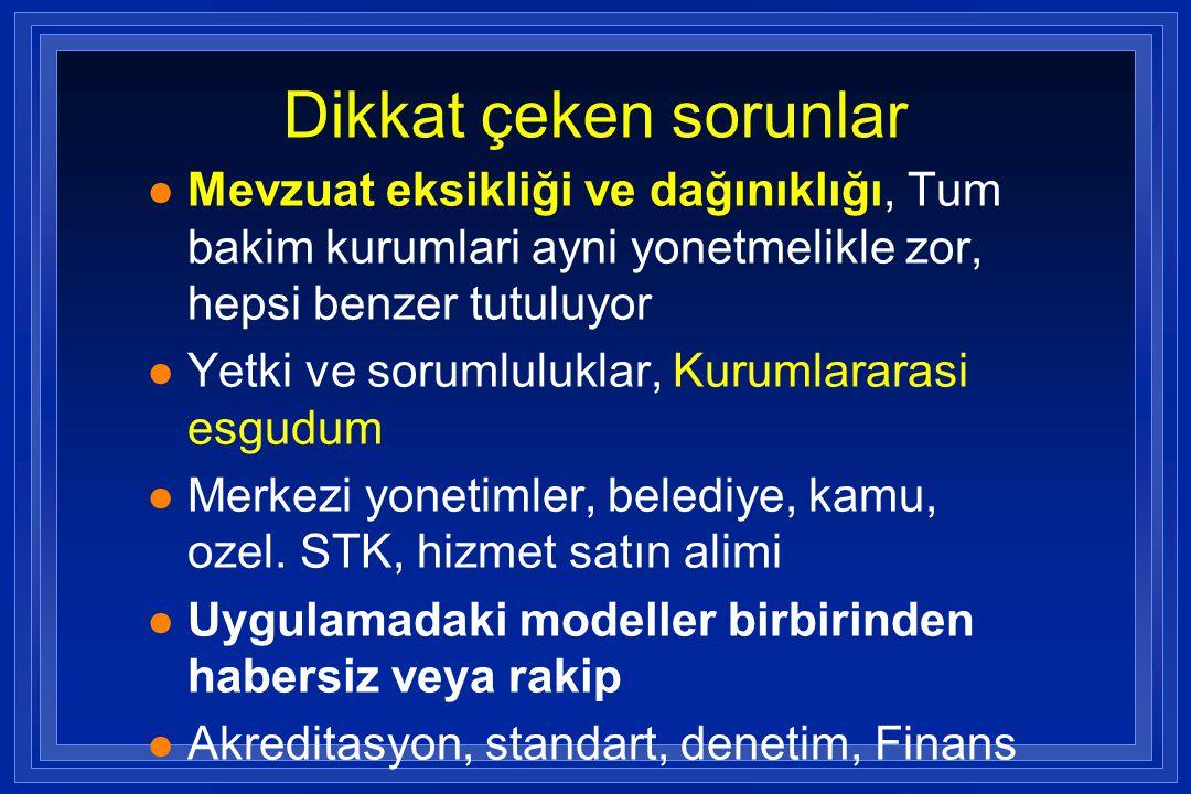 Geriatri uzmanları l Türkiyede 47 geriatri uzmanı var ( hepsi iç hastalıkları ve geriatri uzmanı) l 44'u Akademik Geriatri Derneği üyesi