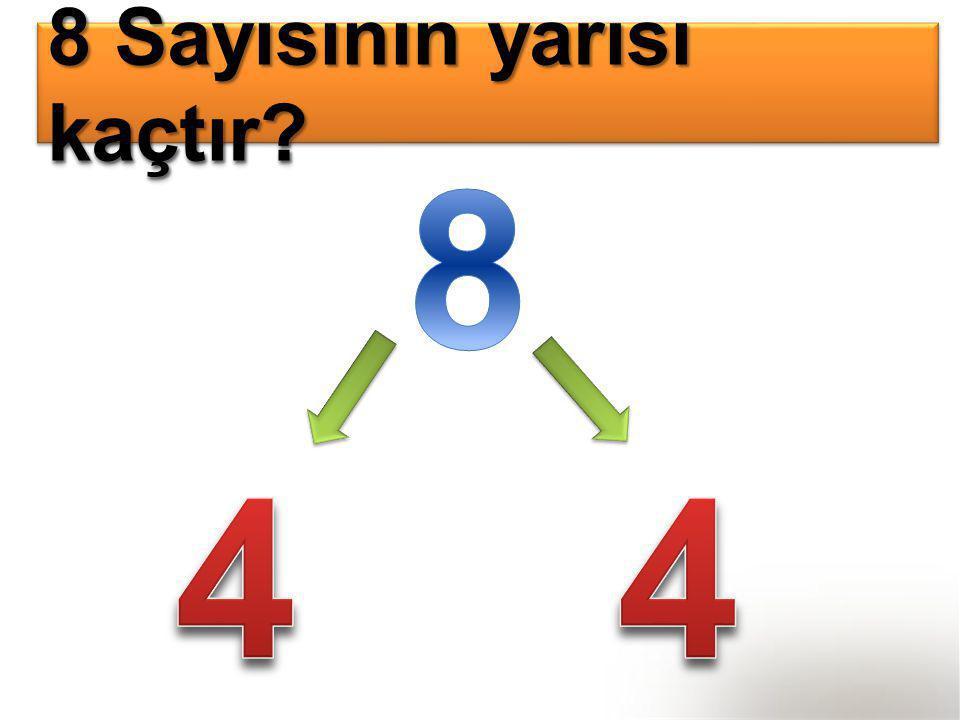 8 Sayısının yarısı kaçtır?
