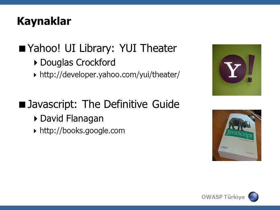 OWASP Türkiye Kaynaklar  Yahoo.