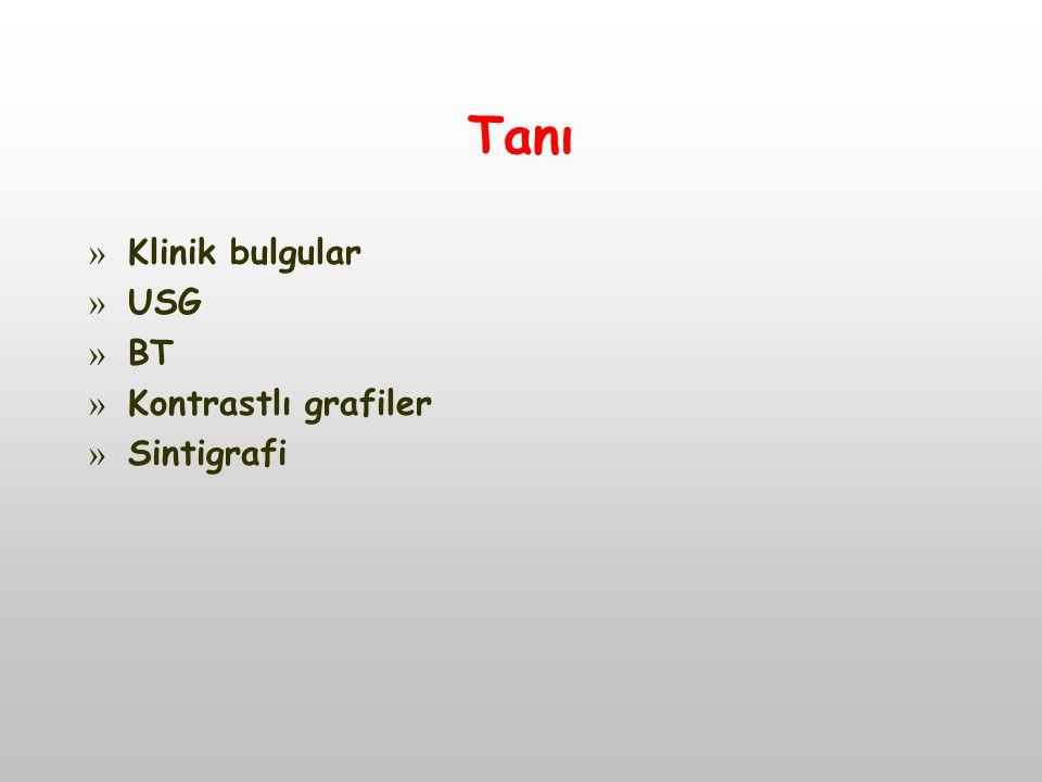 Tanı » Klinik bulgular » USG » BT » Kontrastlı grafiler » Sintigrafi