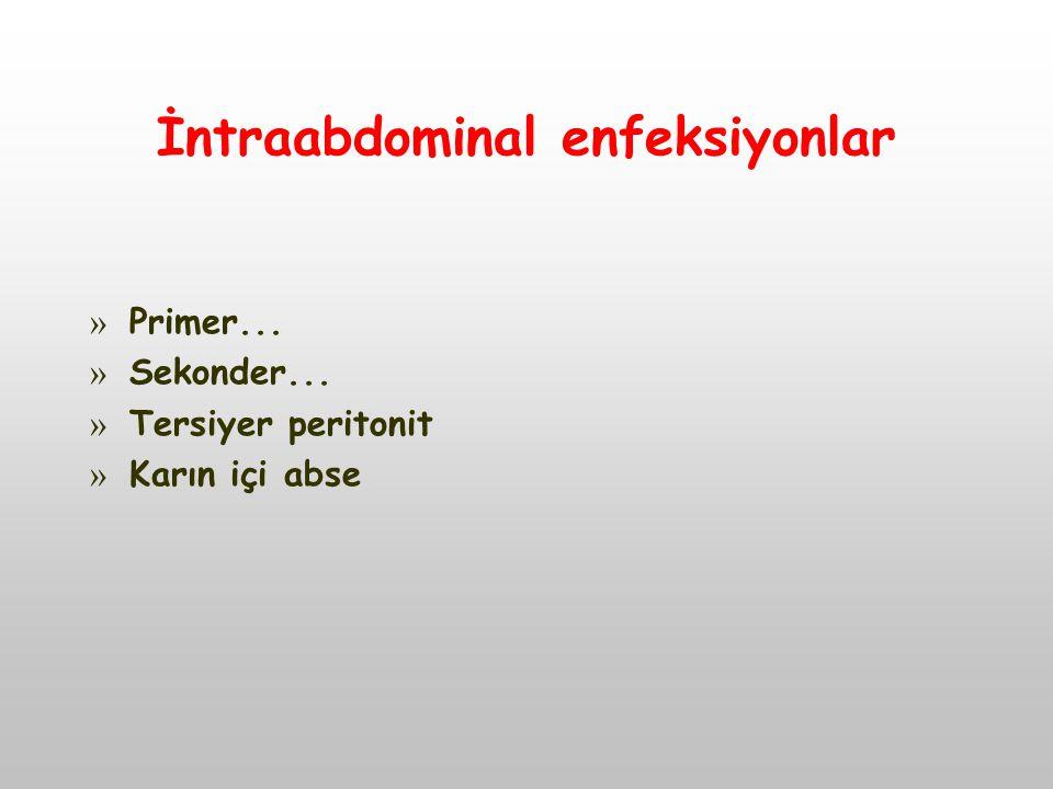 İntraabdominal enfeksiyonlar » Primer... » Sekonder... » Tersiyer peritonit » Karın içi abse