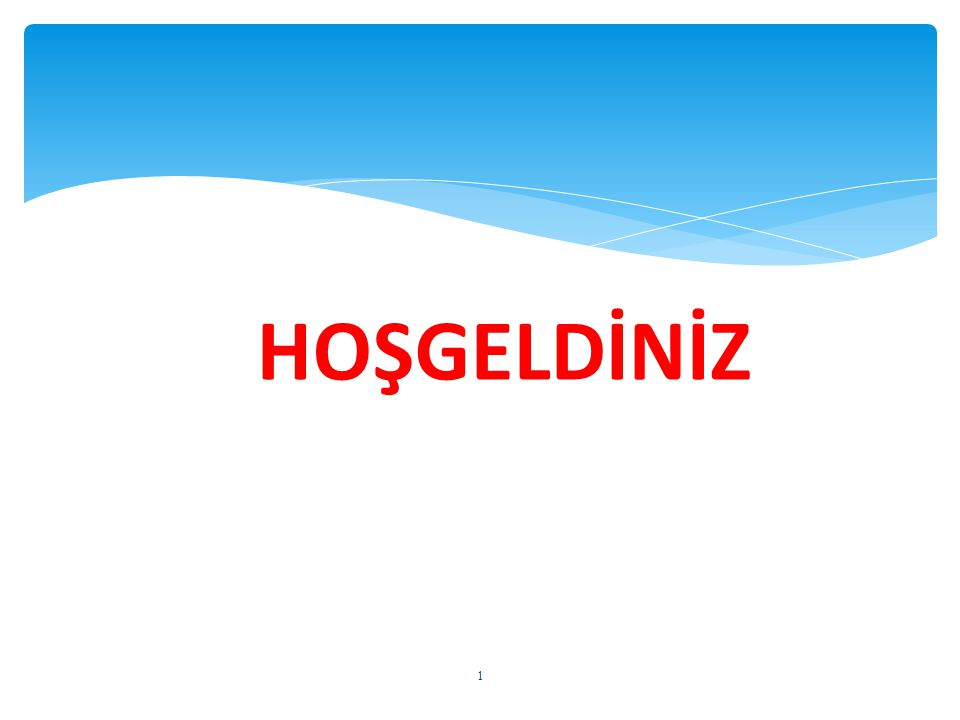 1 HOŞGELDİNİZ