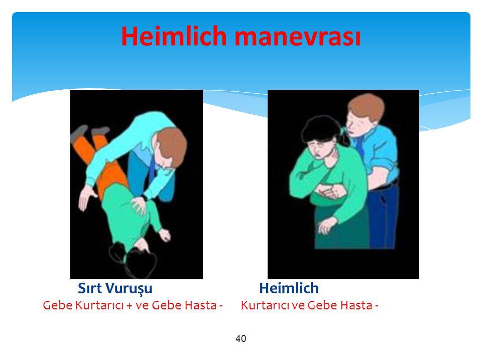 Sırt Vuruşu Heimlich Gebe Kurtarıcı + ve Gebe Hasta - Kurtarıcı ve Gebe Hasta - 40 Heimlich manevrası