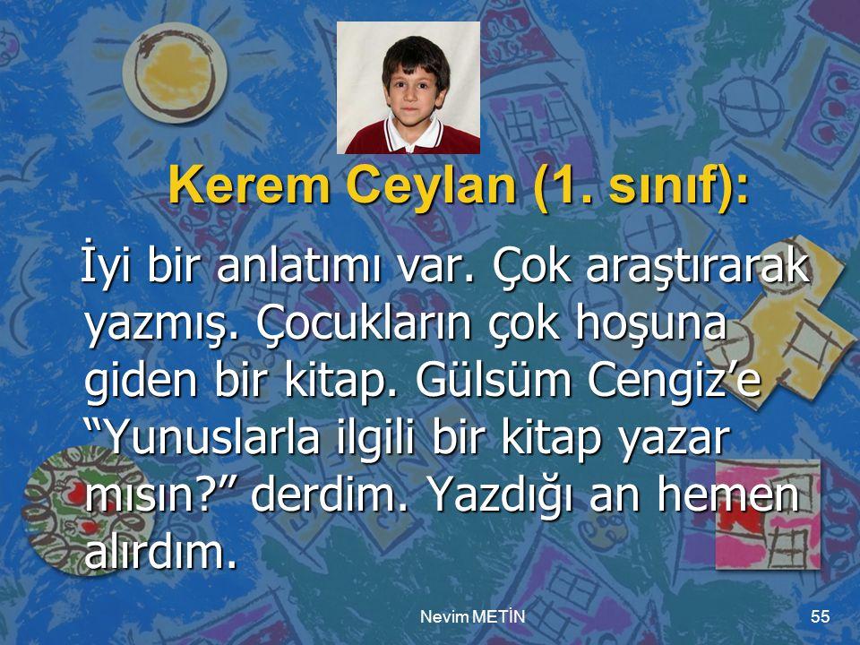 Nevim METİN55 Kerem Ceylan (1.sınıf): İyi bir anlatımı var.