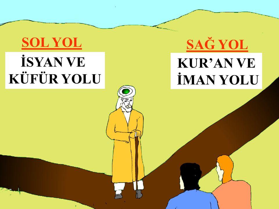 SAĞ YOL SOL YOL KUR'AN VE İMAN YOLU İSYAN VE KÜFÜR YOLU