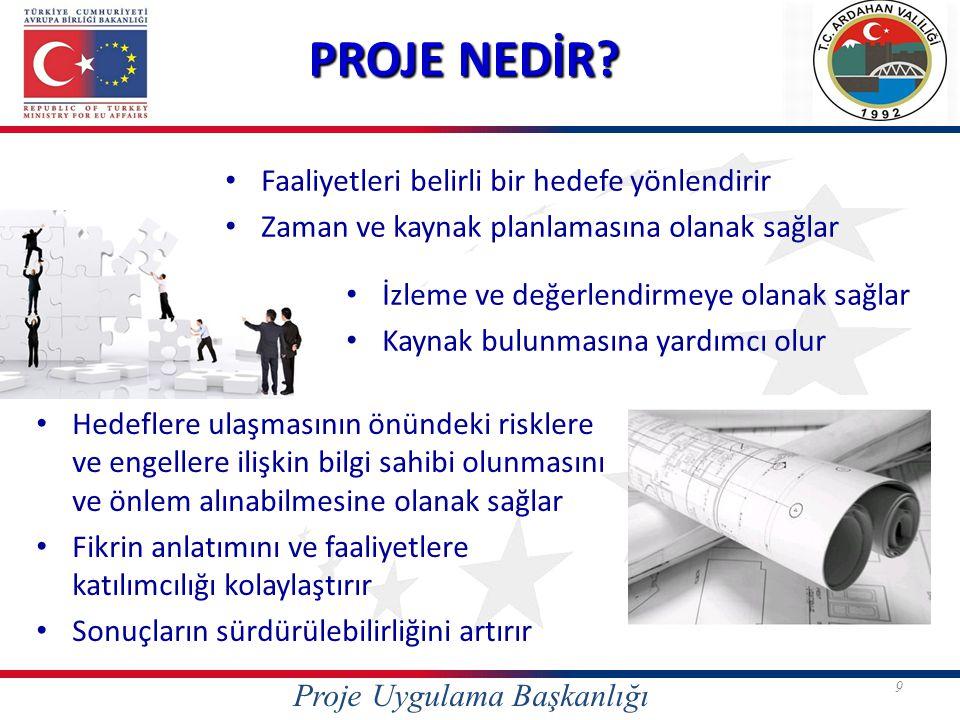 Mantıksal Çerçeve Yaklaşımı Proje Proje Döngüsü Yönetimi (PDY) PROJE HAZIRLAMA METADOLOJİSİ Proje Uygulama Başkanlığı
