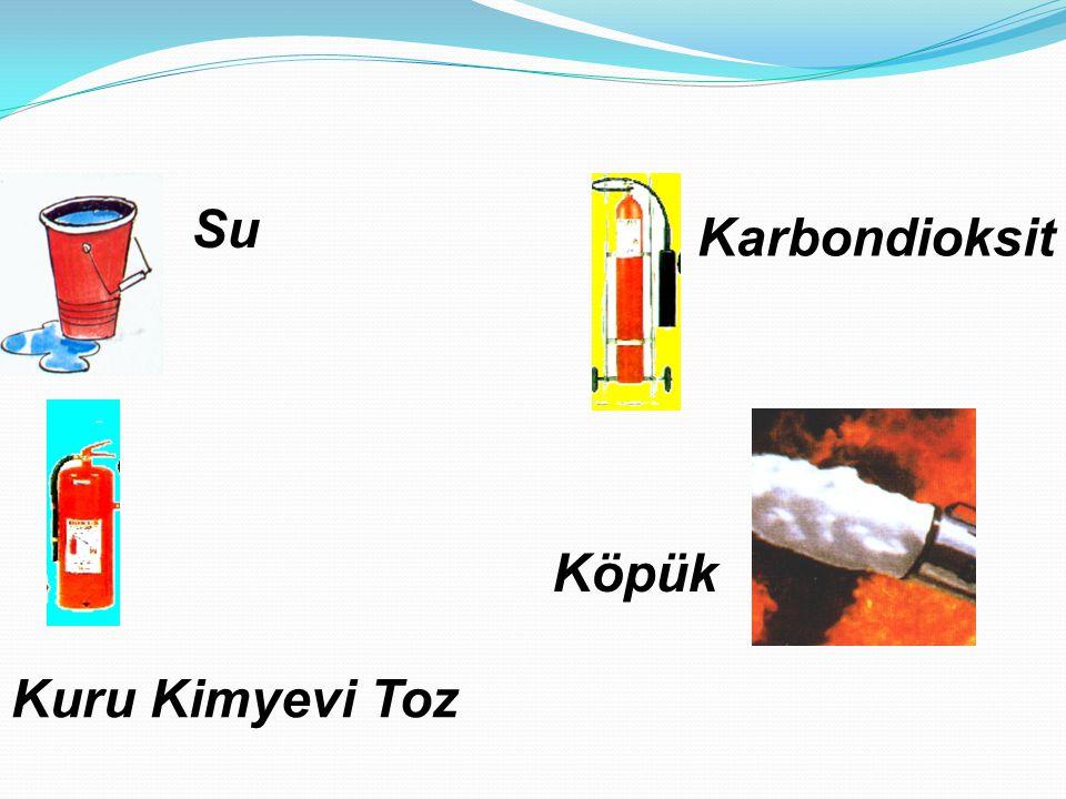  C Sınıfı Yangınlar : Likit petrol gazı, havagazı, hidrojen gibi yanabilen çeşitli gazların yanmasıyla oluşan yangınlardır. Kuru kimyevi toz kullanar