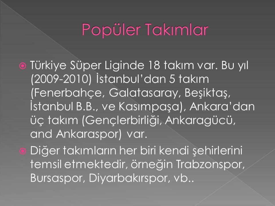  Türkiye Süper Liginde 18 takım var.
