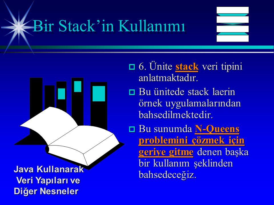 p 6. Ünite stack veri tipini anlatmaktadır.