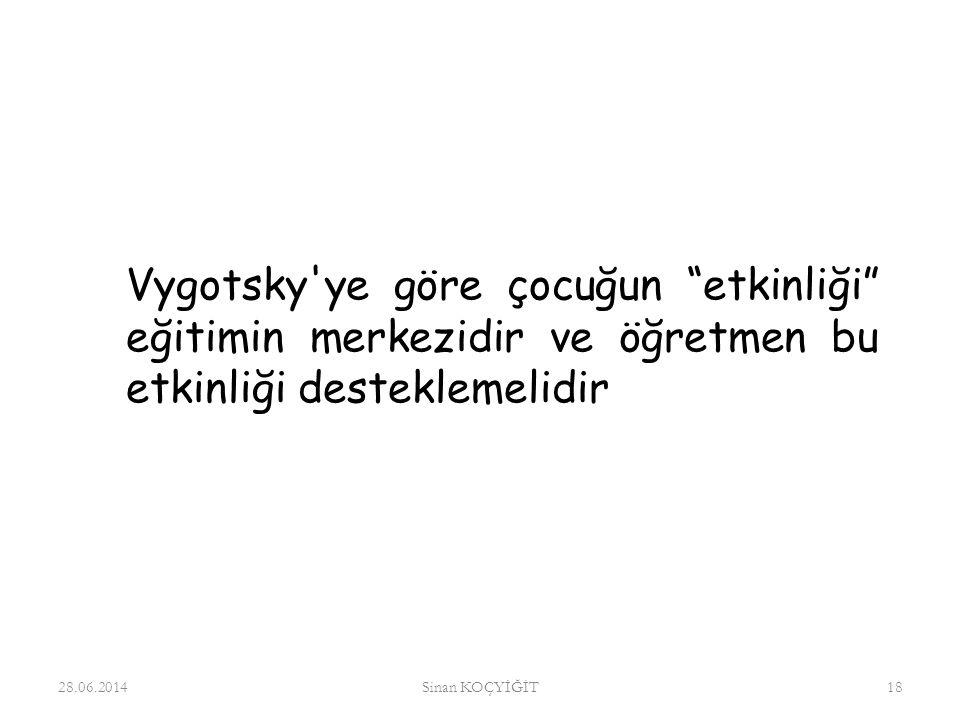 """Vygotsky'ye göre çocuğun """"etkinliği"""" eğitimin merkezidir ve öğretmen bu etkinliği desteklemelidir 28.06.2014Sinan KOÇYİĞİT18"""