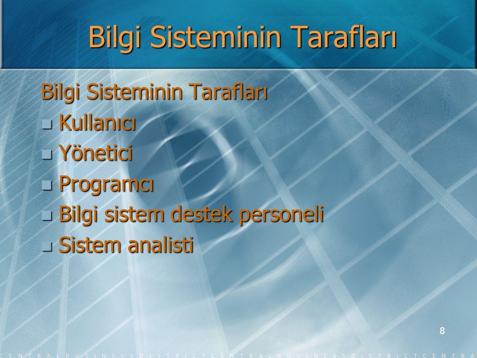 9 Sistem Analisti  Sistem analisti bilgi sistemi ve bilgi teknolojisinin en iyi çözebileceği şekilde işletme problemlerini ve gereksinimlerini çözer ve işletmede önemli gelişmeler sağlar.