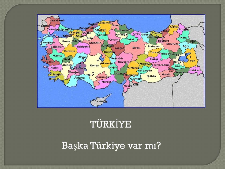 TÜRK İ YE Ba ş ka Türkiye var mı?