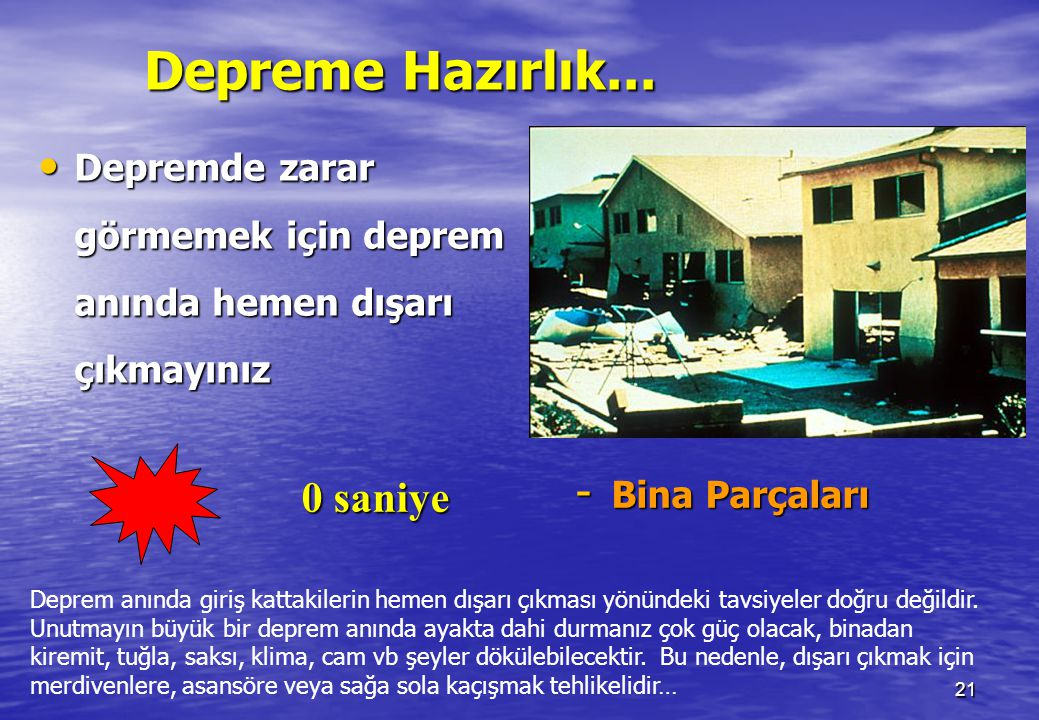 20 0 saniye - Binalar Marmara depreminde ölümlere çürük binalar, sabitlenmemiş eşyalar ve insanların cahilliği neden oldu. Binaların depremde hasar gö