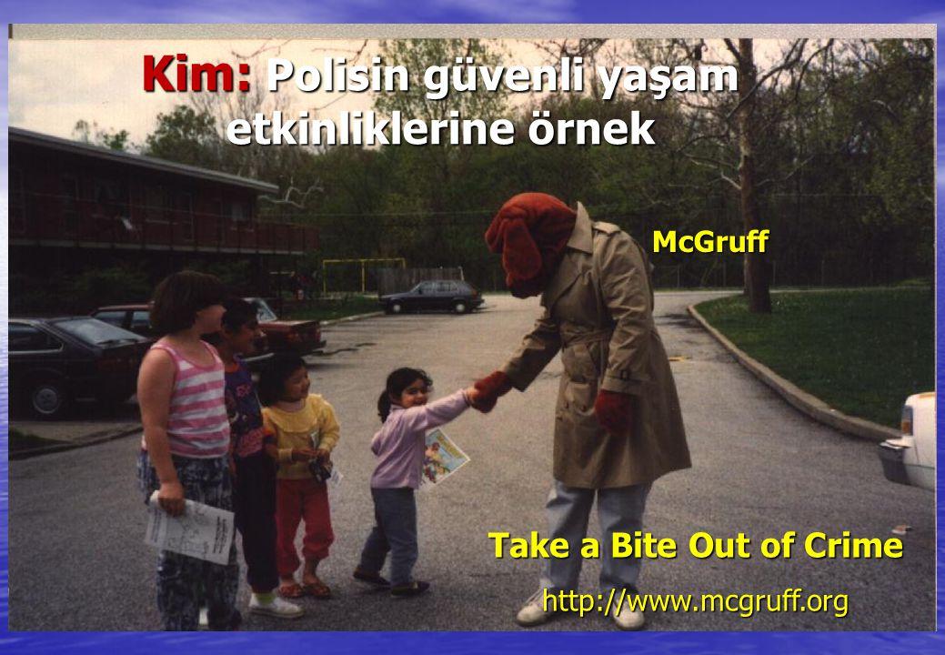 McGruff Take a Bite Out of Crime http://www.mcgruff.org Kim: Polisin güvenli yaşam etkinliklerine örnek