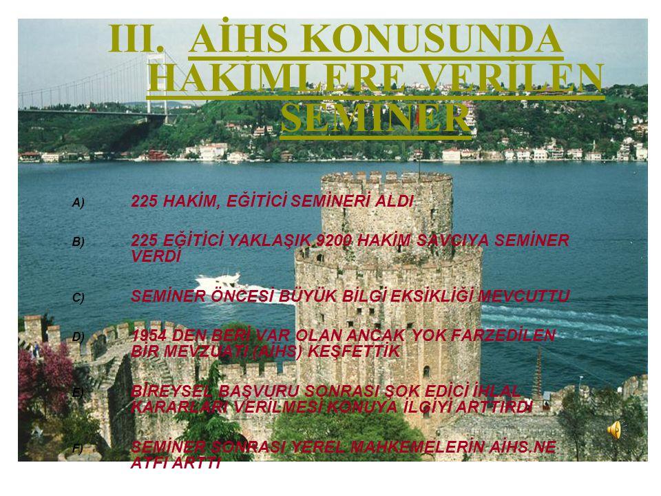 IV.TÜRK TOPLUMUNDA AİHS.