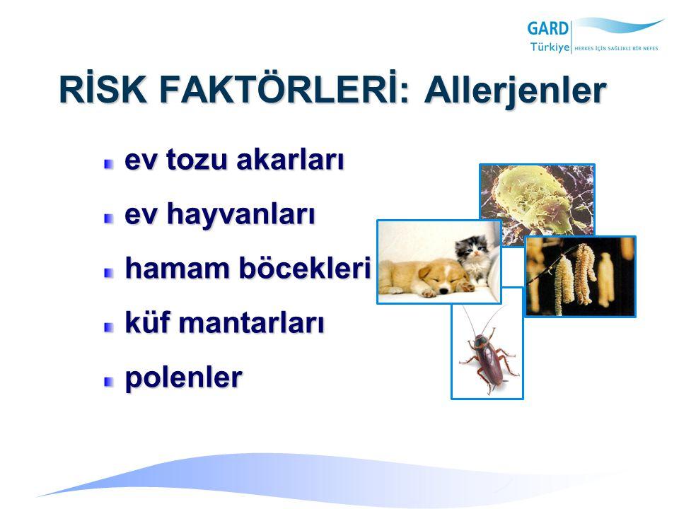TANI: Solunum Fonksiyon Testleri Hava yolu obstrüksiyonu ve reverzibilitesi (FEV 1 /FVC<%75,FEV 1, PEF)