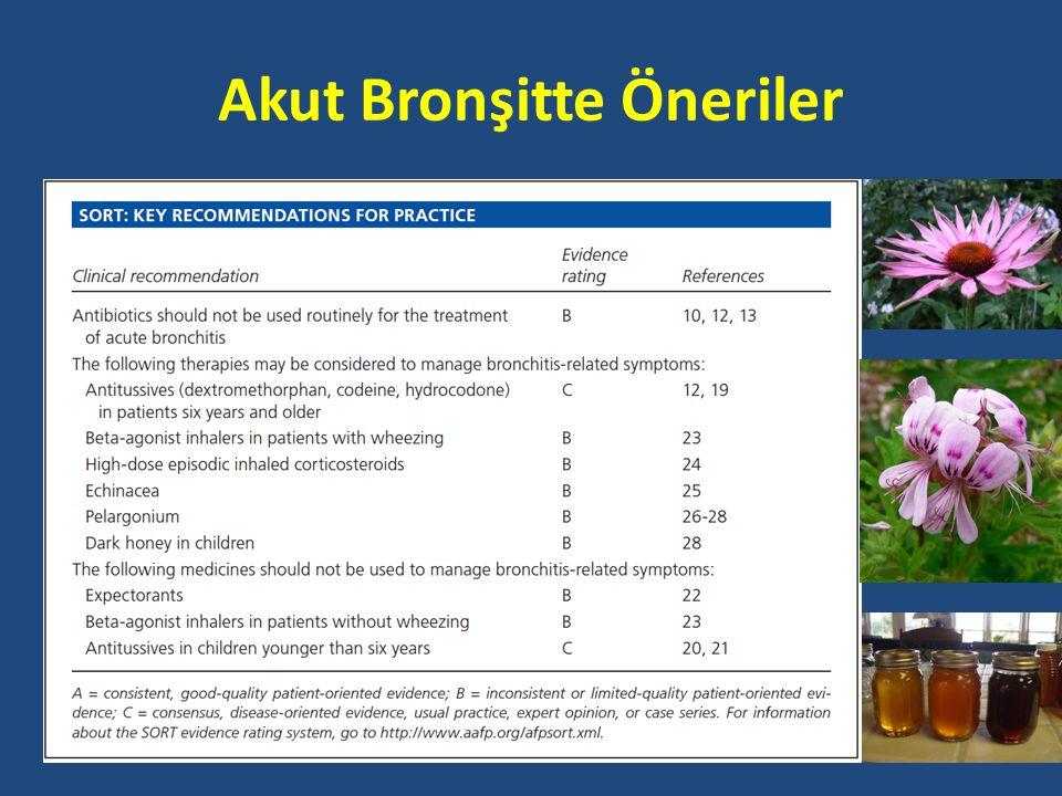 Akut Bronşitte Öneriler