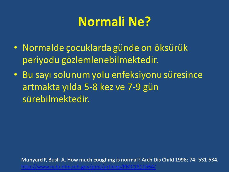 Normali Ne.• Normalde çocuklarda günde on öksürük periyodu gözlemlenebilmektedir.