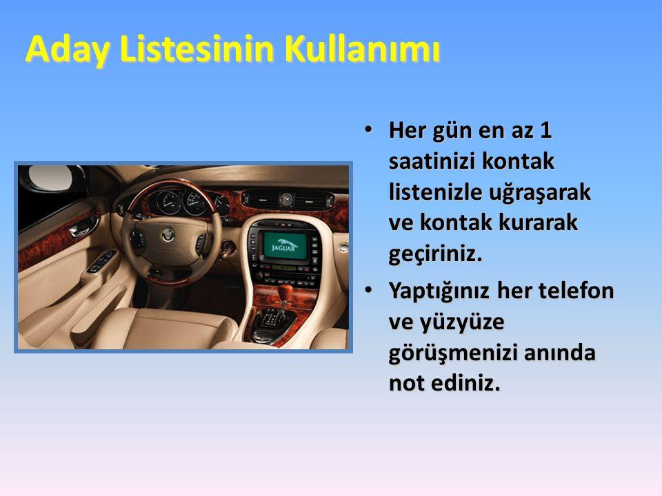 Her Hafta Aday Listenizi Yenileyin.• UNUTMAYIN!.