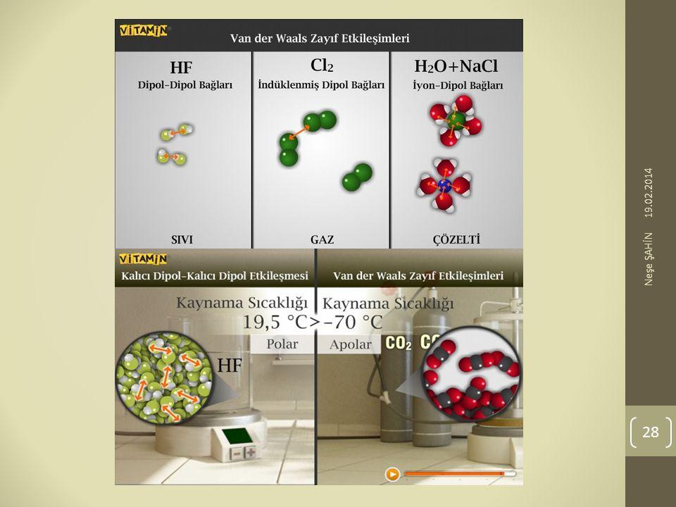 SORU: Hidrojen bağları ile ilgili aşağıdakilerden hangisi doğrudur.