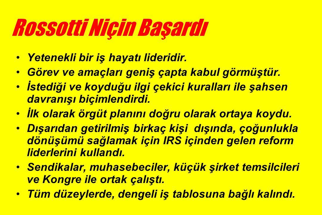 Rossotti Niçin Başardı •Yetenekli bir iş hayatı lideridir.