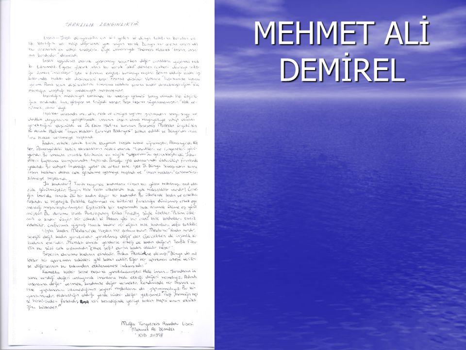 MEHMET ALİ DEMİREL