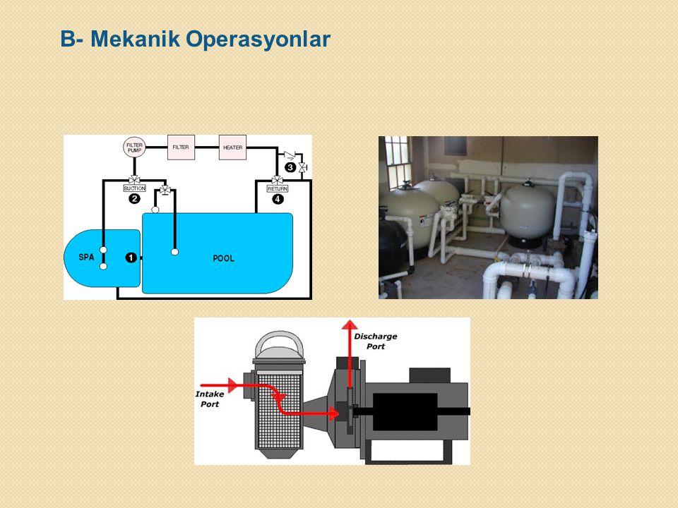 B- Mekanik Operasyonlar