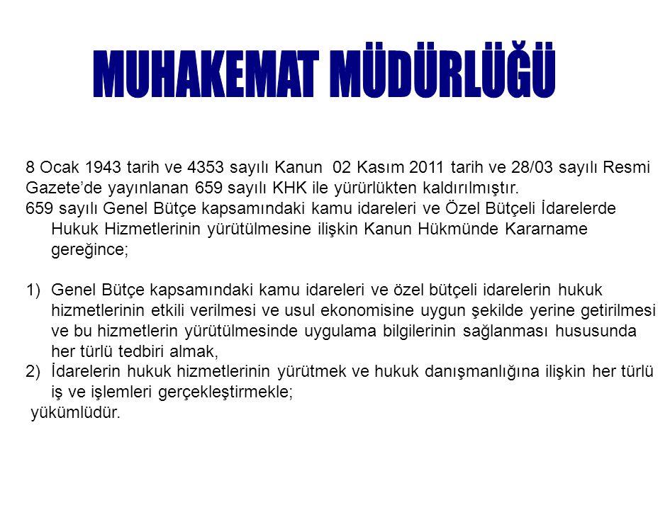 8 Ocak 1943 tarih ve 4353 sayılı Kanun 02 Kasım 2011 tarih ve 28/03 sayılı Resmi Gazete'de yayınlanan 659 sayılı KHK ile yürürlükten kaldırılmıştır. 6