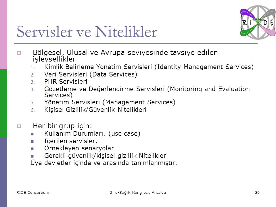 RIDE Consortium2.