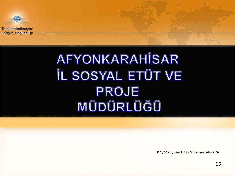 Kaynak: Şahin BAYZA Uzman -ANKARA 25