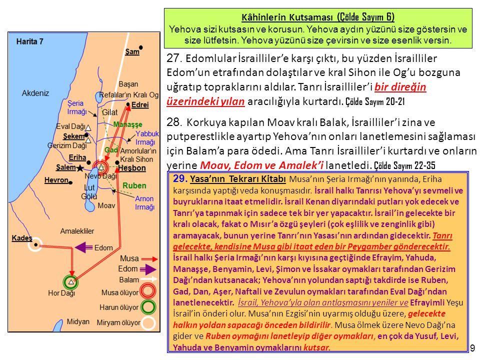 30 152.Yeremya Kitabı (Bölüm 27-31, 51) Yahuda'nın sürgünü 70 yıl sürecek.