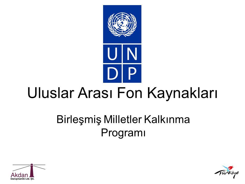Uluslar Arası Fon Kaynakları Birleşmiş Milletler Kalkınma Programı