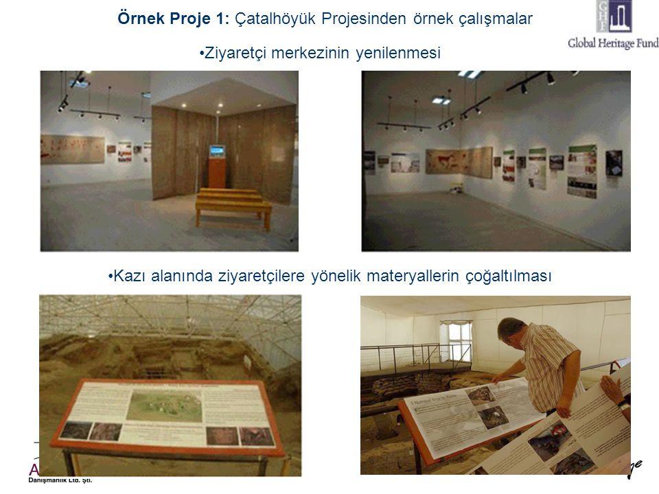 48 Örnek Proje 1: Çatalhöyük Projesinden örnek çalışmalar •Ziyaretçi merkezinin yenilenmesi •Kazı alanında ziyaretçilere yönelik materyallerin çoğaltı