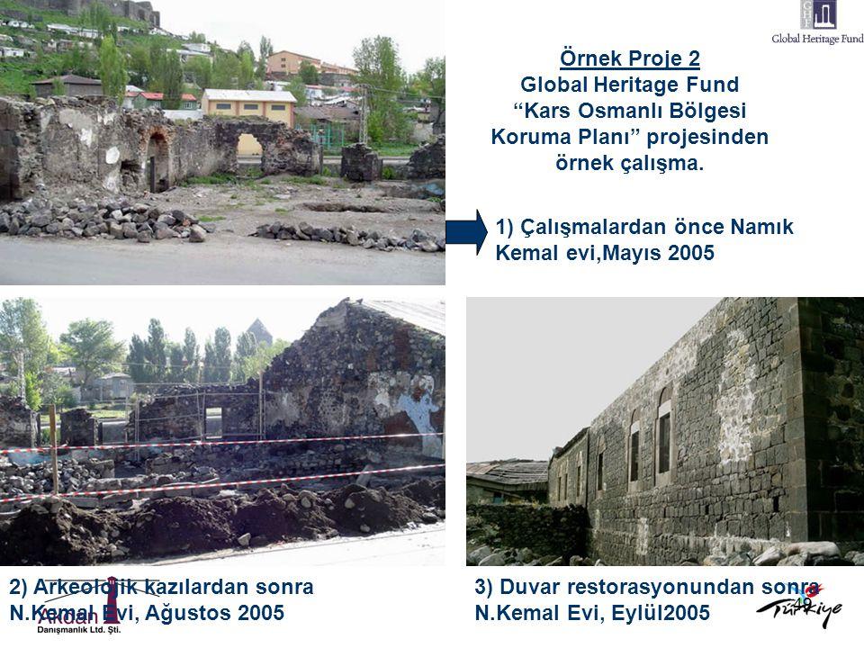 """49 Örnek Proje 2 Global Heritage Fund """"Kars Osmanlı Bölgesi Koruma Planı"""" projesinden örnek çalışma. 1) Çalışmalardan önce Namık Kemal evi,Mayıs 2005"""
