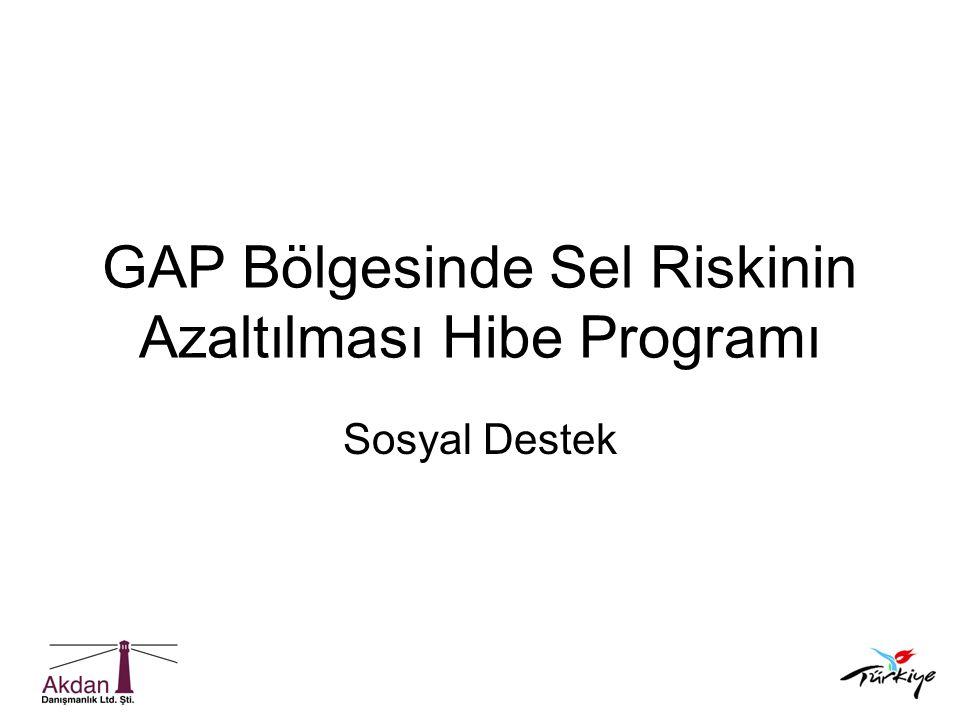 GAP Bölgesinde Sel Riskinin Azaltılması Hibe Programı Sosyal Destek