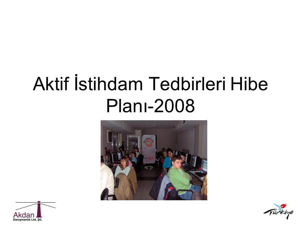 Aktif İstihdam Tedbirleri Hibe Planı-2008