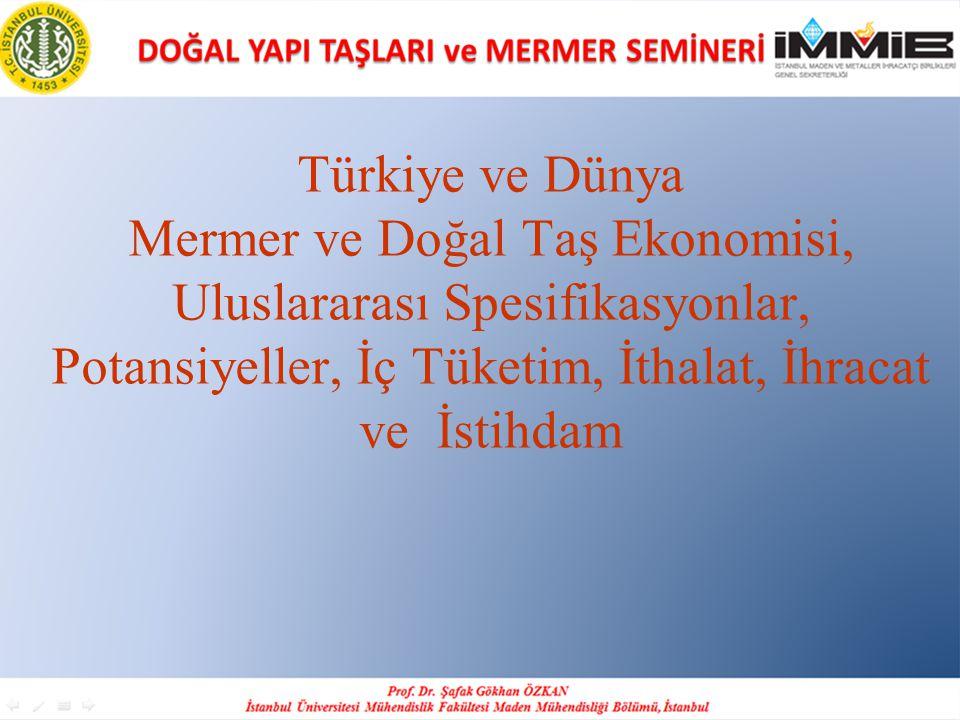 İHRACATIN ARTMASI İÇİN ALINMASI GEREKEN BAZI ÖNLEMLER Türkiye'de doğal taş üretim ve ihracatının tamamına yakını özel sektör tarafından karşılanmaktadır.