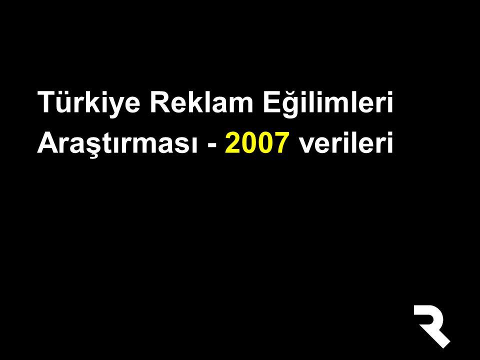 Türkiye Reklam Eğilimleri Araştırması - 2007 verileri