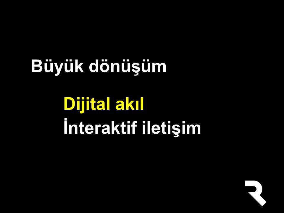 Dijital akıl İnteraktif iletişim Büyük dönüşüm