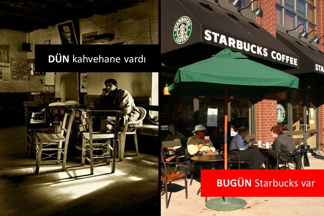 DÜN kahvehane vardı BUGÜN Starbucks var