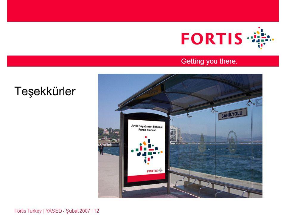 Fortis Turkey | YASED - Şubat 2007 | 12 Getting you there. Teşekkürler