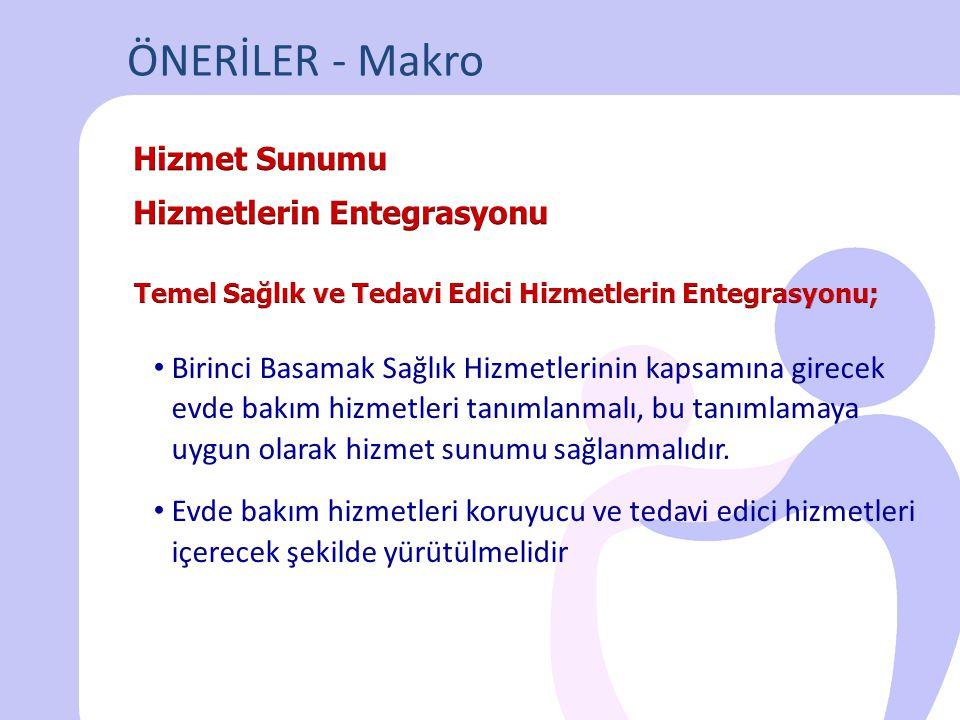 ÖNERİLER - Makro