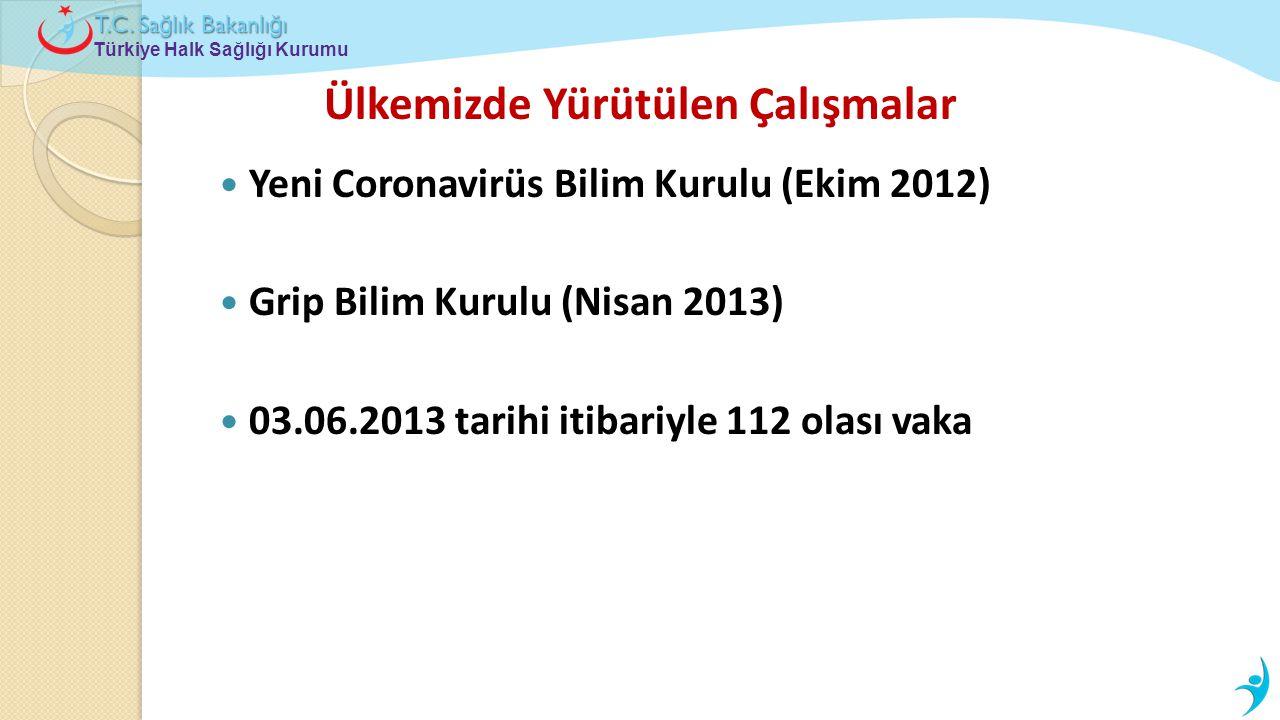 Türkiye Halk Sağlığı Kurumu T.C. Sa ğ lık Bakanlı ğ ı Ülkemizde Yürütülen Çalışmalar  Yeni Coronavirüs Bilim Kurulu (Ekim 2012)  Grip Bilim Kurulu (