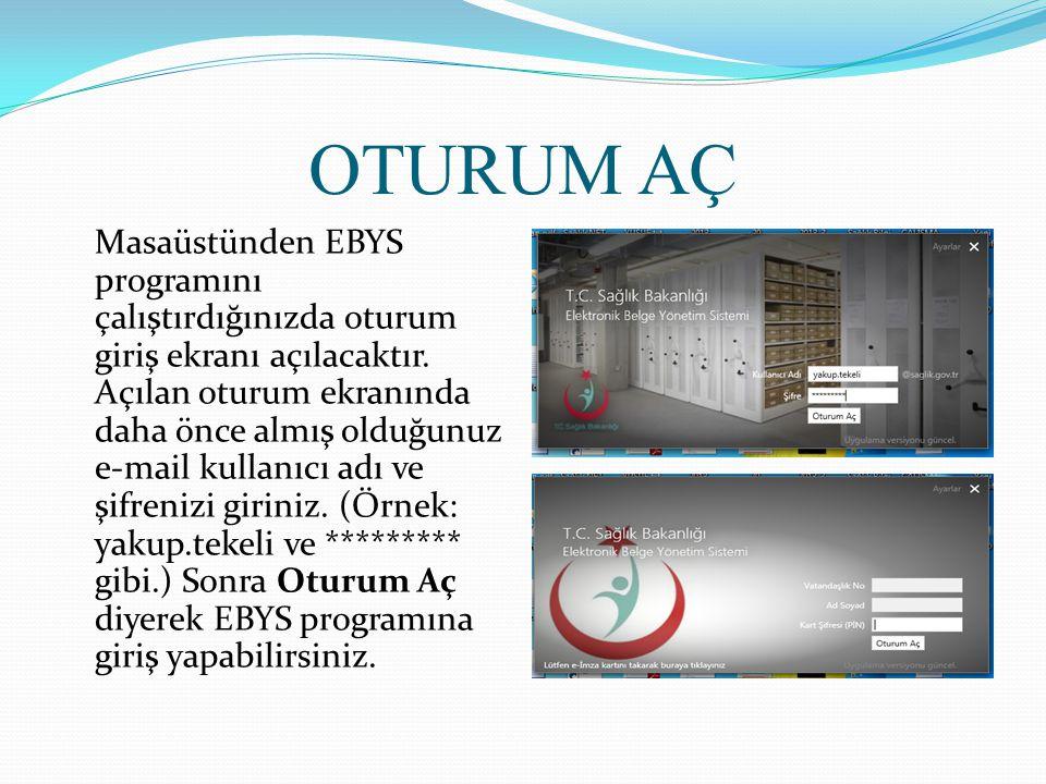 ARAMA Sistemimde kayıtlı herhangi bir belgeyi bulmak için Genel' den Arama Ekranına girilir.