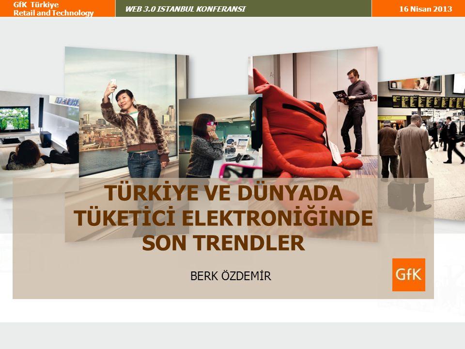 32 GfK Türkiye Retail and Technology WEB 3.0 ISTANBUL KONFERANSI16 Nisan 2013 Year-on-Year Change in Global Tech Device Retail Sales Revenue in €, by Product Global Teknoloji Cihazları Harcamaları Tablet ve Smartphone en çok büyüyen kategoriler olmaya devam ediyor Global Teknoloji Cihazları Harcamaları Tablet ve Smartphone en çok büyüyen kategoriler olmaya devam ediyor