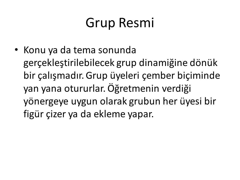 Grup Resmi • Konu ya da tema sonunda gerçekleştirilebilecek grup dinamiğine dönük bir çalışmadır.