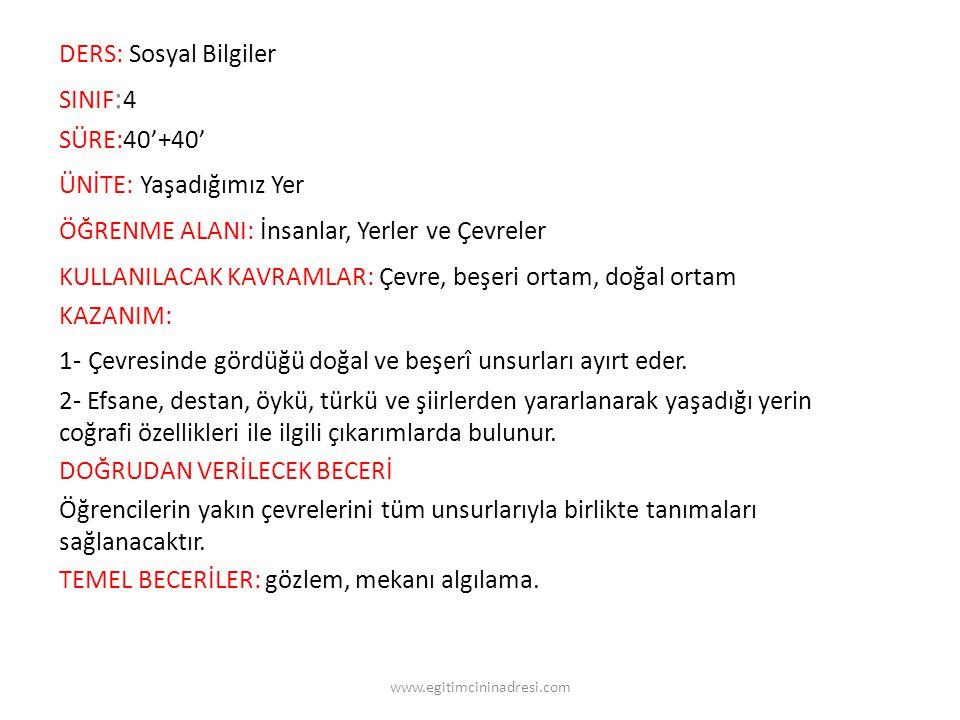 Türkiye'nin en uzun akarsuyu Kızılırmak tır. www.egitimcininadresi.com
