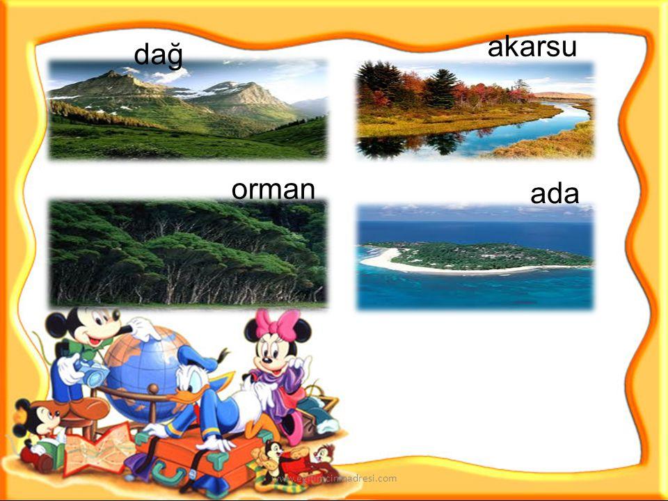Peki çocuklar etrafımızda hangi doğal unsurlar vardır? www.egitimcininadresi.com