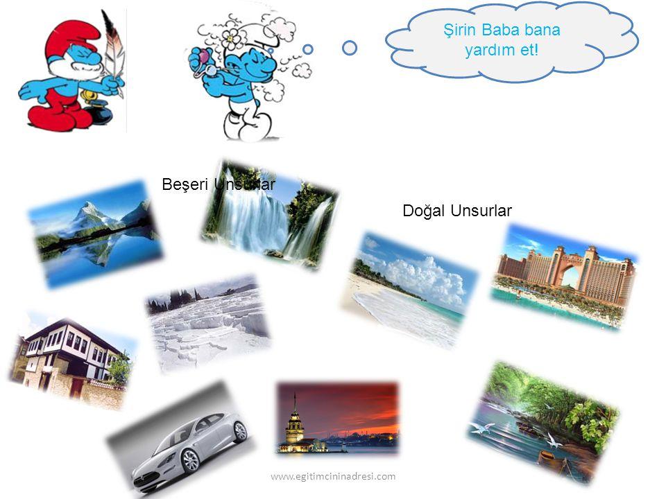 Şirin Baba bana yardım et! Doğal Unsurlar Beşeri Unsurlar www.egitimcininadresi.com