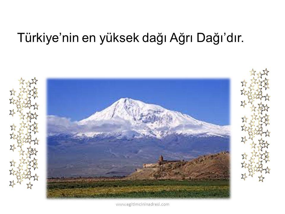 Türkiye'nin en uzun akarsuyu Kızılırmak'tır. www.egitimcininadresi.com